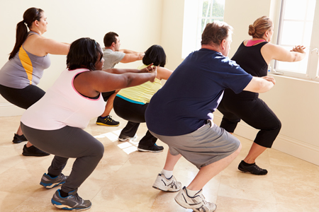 Group fitness to motivate