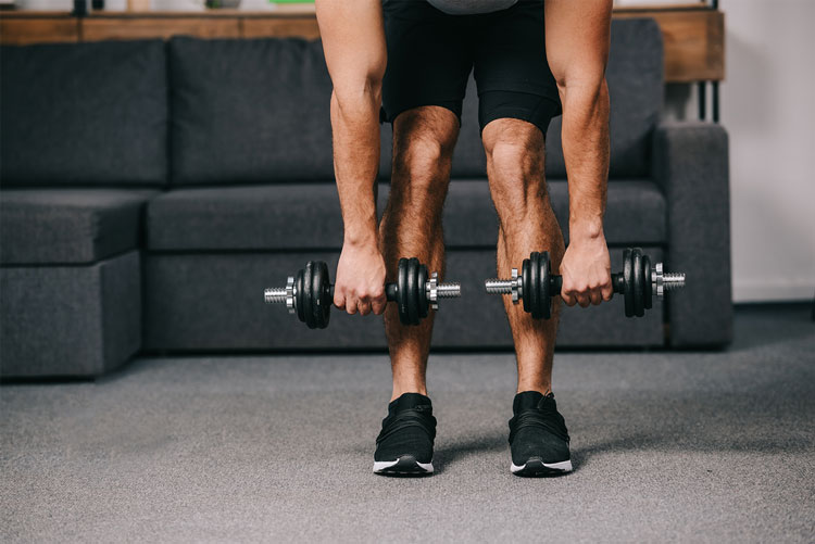 Proper form with weight lifting